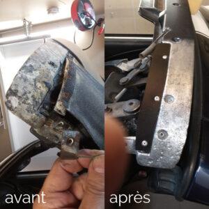 Réparation de braquette